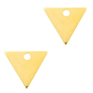 Goud Bedel triangle Goud DQ 14x12mm