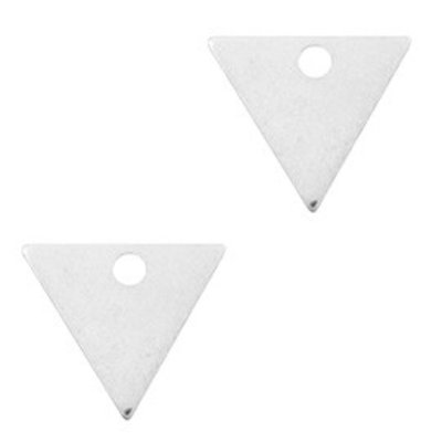 Zilver Bedel metaal triangle Zilver DQ 12x14mm