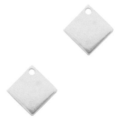 Zilver Bedel metaal vierkant Zilver DQ 10mm