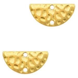 Goud Tussenzetsel halve cirkel Goud DQ  15x7mm