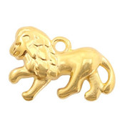Goud Bedel leeuw Goud DQ 22x14mm