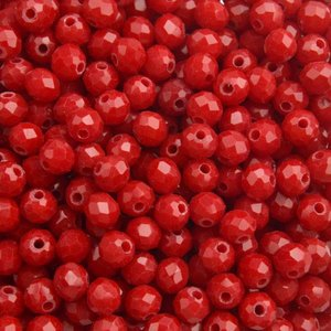 Rood Facet rondel Fel rood 4x3mm - 90 stuks
