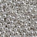 Zilver Edelsteen kraal Hematiet silver plated rond 3mm - 20 stuks