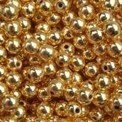 Goud Edelsteen kraal Hematiet gold plated rond 4mm - 20 stuks