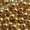 Goud Edelsteen kraal Hematiet gold plated rond 6mm - 10 stuks