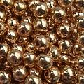 Goud Edelsteen kraal Hematiet light gold plated rond 6mm - 10 stuks