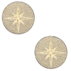 Bruin Houten cabochon ster Pearl Gold 12mm