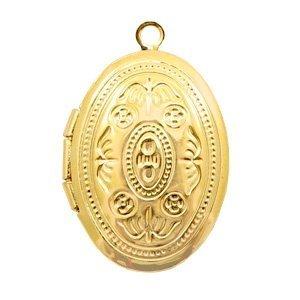 Goud Medaillon bedel ovaal Goud 24x16mm