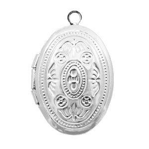 Zilver Medaillon bedel ovaal Zilver 24x16mm