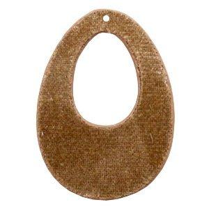 Bruin Velvet hanger druppel Golden brown 50x36mm