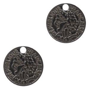 Zwart Hanger bohemian muntje Black 15mm