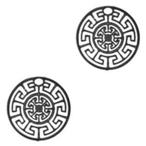 Zwart Hanger bohemian muntje geometric Black 13mm