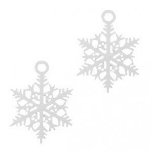 Zilver Hanger bohemian sneeuwvlokje Zilver 20x17mm
