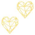 Goud Tussenzetsel bohemian geometric heart Goud 20x19mm