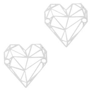 Zilver Tussenzetsel bohemian geometric zilver Zilver 20x19mm
