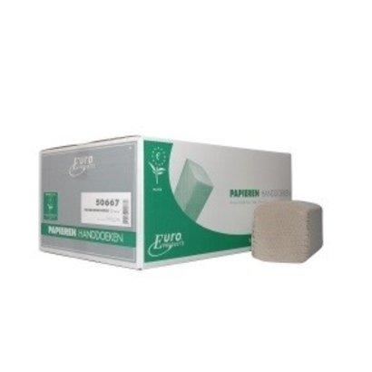 Europroducts Euro Z-vouw recycled tissue 2 laags ECO label