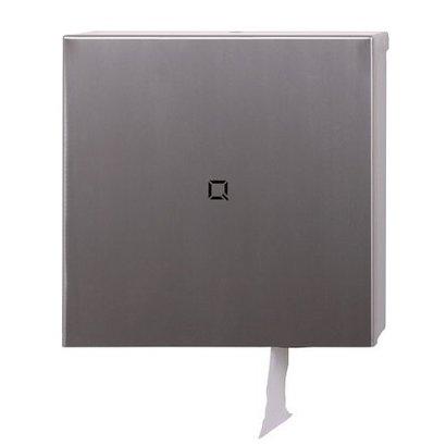 Qbic-line RVS toiletrolhouder voor 1 maxi jumbo rol wcpapier