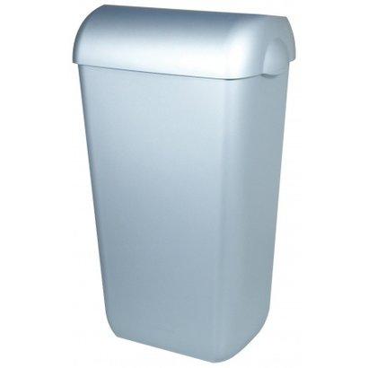 PlastiQline Afvalbak kunststof RVS look 43 liter open