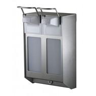 MediQo-line MediQo-line DUO Zeep- & desinfectiemiddeldispenser 500 ml KB RVS - artikel 8310