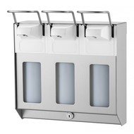 MediQo-line MediQo-line TRIO Zeep- & desinfectiemiddeldispenser 500 ml KB RVS