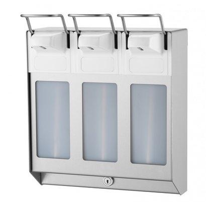 MediQo-line TRIO Zeep- & desinfectiemiddeldispenser 1000 ml KB RVS