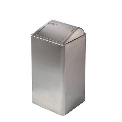 Dutch Bins Afvalbak gesloten 65 liter RVS
