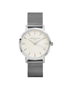 Rosefield The Mercer White Silver horloge MWS-M40