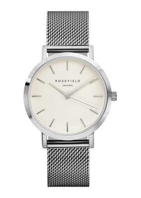 Rosefield The Mercer White Silver horloge MWS-M40