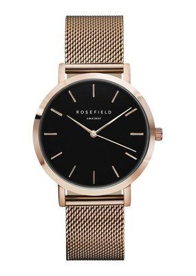 Rosefield The Mercer Black Rose Gold Horloge MBR-M45