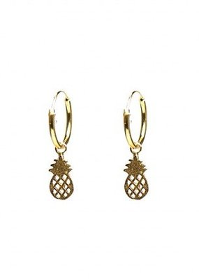 Karma Jewellery SYMBOL HOOPS PINEAPPLE