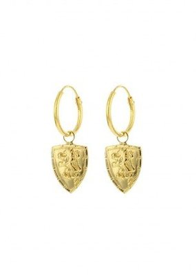 Karma Jewellery SYMBOL HOOPS SHIELD LION