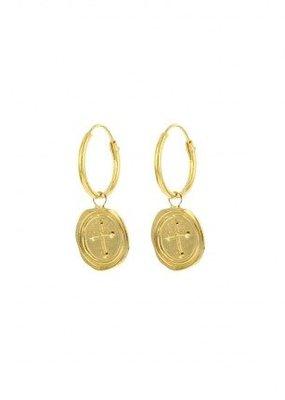 Karma Jewellery SYMBOL HOOPS CROSS STAMP