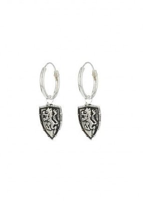 Karma Jewellery SYMBOL HOOPS SHIELD LION - ZILVER