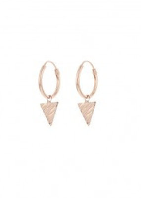 Karma Jewellery SYMBOL HOOPS TRIANGLE WOOD - ROSE GOLD