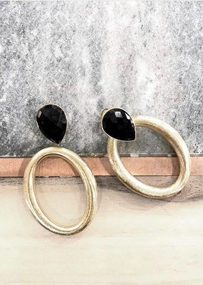 BY JAM GIOIELLI BY JAM GIOELLI OORBEL-PART OVAL HOOP - GOLD