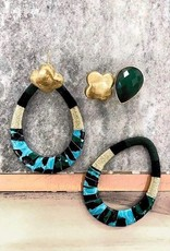 BY JAM GIOIELLI BY JAM GIOIELLI OORSTEKER DROP GREEN GOLD