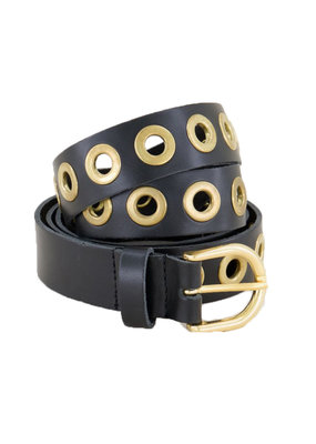 MY JEWELLERY LEATHER BELT METAL - GOLD