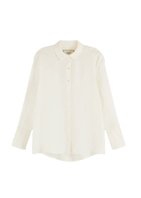 Scotch and Soda KLASSIEKE BLOUSE WIT