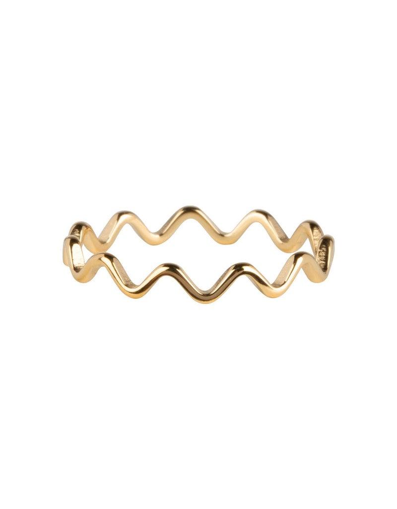 Charmins CHARMINS RING WAVE GOLD