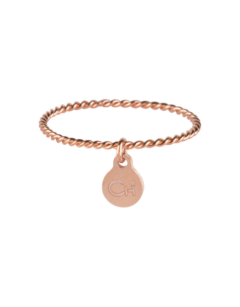Charmins CHARMINS DANGLING COIN ROSE GOLD