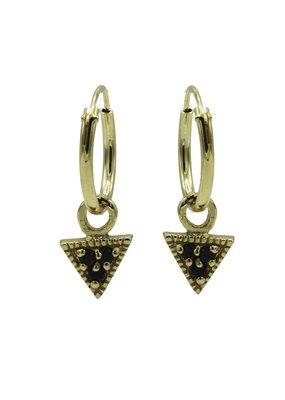 Karma Jewellery OORBEL DRIEHOEK ZWART