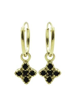 Karma Jewellery OORBEL STER GROOT ZWART