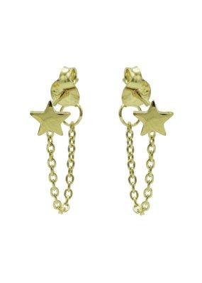 Karma Jewellery OORBEL CHAIN STERRETJE