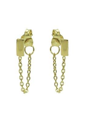 Karma Jewellery OORBEL CHAIN RECHTHOEK