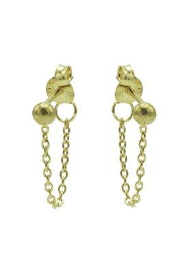 Karma Jewellery OORBEL CHAIN BOLLETJE