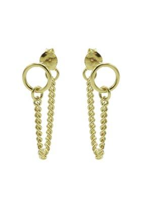 Karma Jewellery OORBEL CHAIN RINGEETJE GROOT