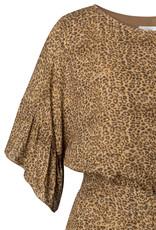 YAYA BELTED DRESS WITH RUFFLES
