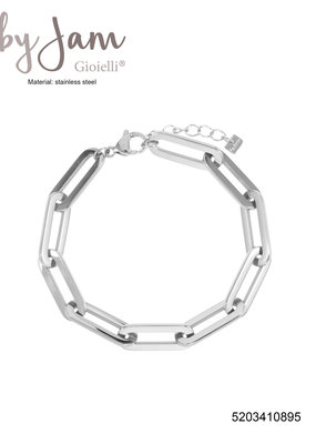 BY JAM GIOIELLI BIG CHAIN ARMBAND ZILVER
