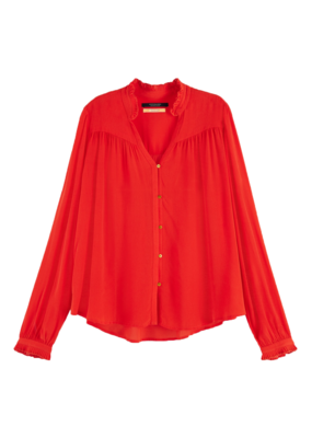 Scotch and Soda GEPLOOIDE BLOUSE ROOD