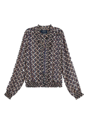 Scotch and Soda TOP MET PRINT EN RUCHEHALS